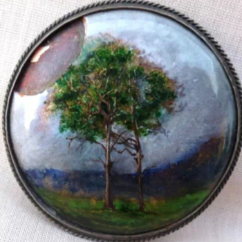 My repair on Arts and Crafts brooch, enamel attributed to Charles Fleetwood VARLEY.  - Arts and Crafts