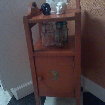 Vintage Orange Smoking Cabinet