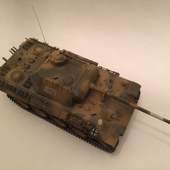 Tamiya 1/35th scale Panther Model Tank - Military and Wartime