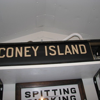 Vintage NYC Subway Roll Sign