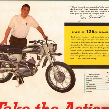 1965 - Mont. Ward / Benelli Motorcycles / NFL Poster - 2 - Posters and Prints
