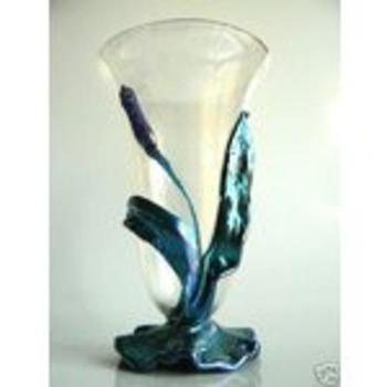 Loetz Bubble Glass Cattail Vase