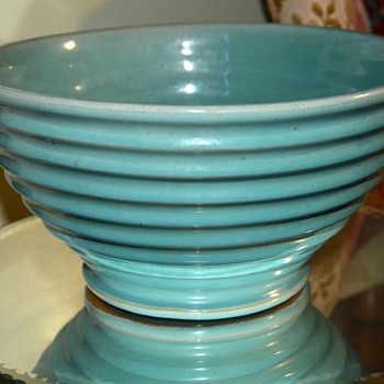 Blue Ringed Mixing Bowl - Kitchen