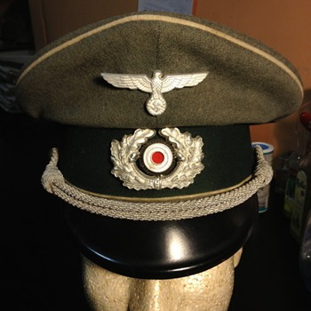 WWII German Infantry Officer's Peaked Cap - Military and Wartime