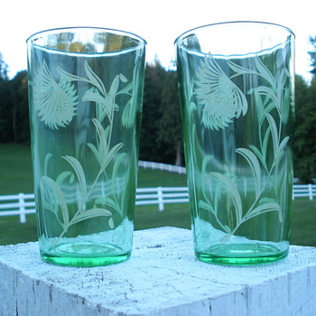 Uranium Table Tumblers - Glassware