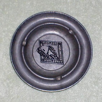 """Marlboro Unlimited"" Pewter Ashtray"