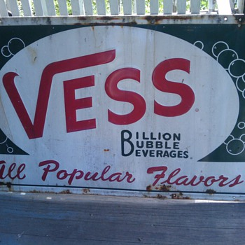 Vintage Vess Soda Sign    Tin? - Signs