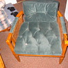 Mid-60&#039;s chair, refurbished in velvet