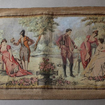 French Tapestry with Hussars, Muscadin and Les Incroyables