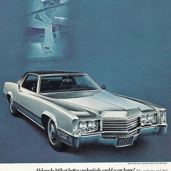 Advertisements for the 1969 & 70 Cadillac Fleetwood Eldorado - Advertising
