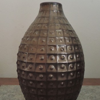 Gustavsberg Swedish pottery vase - Art Pottery