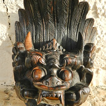 SE Asian? Wood Carved Mask - Asian