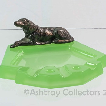 Jadeite Dog Ashtray