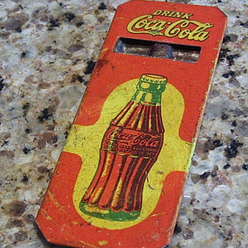 1930s tin Coca Cola whistle