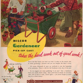 1950 Milcor Garden Cart Advertisement - Advertising