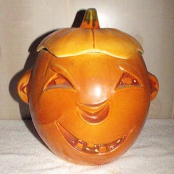 Jack-o-Lantern Jar - Pottery