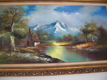 Vintage G Whitman Beautiful Landscape Oil Painting