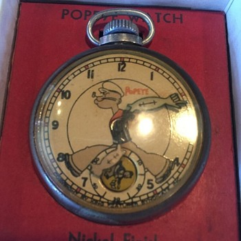 "1935 New Haven ""Popeye"" Pocket Watch"