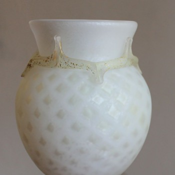 Joetsu Kurata quilted vase - Art Glass