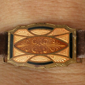 Art deco enamel slider bracelet - Accessories