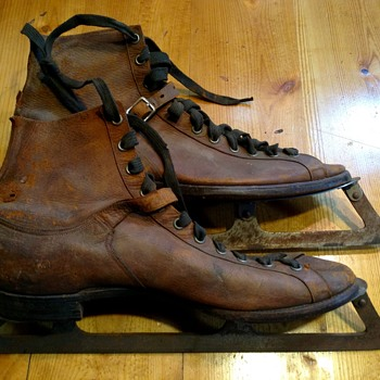 Incredibly crafted Antique Ice Skates