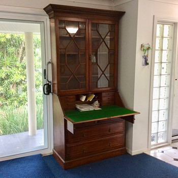 Secretaire Writing Desk and Bookshelf