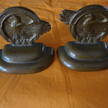 "Bronze ""Ruptured Duck"" Bookends - Military and Wartime"