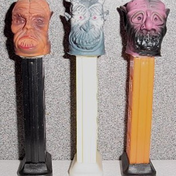 Pez Dispensers - Eerie Spectres, Football Players and Indian Chief