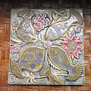 Fish Tile--Lisa Larson? - Art Pottery