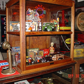 Vintage Show Cases...Full Of Collectibles