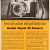 "1954 - Kodak ""Signet 35"" Camera Advertisement"
