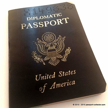 US Diplomatic Passport - Cold War times - Paper