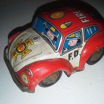 T.T  TAKATOKU 1960's Fire Chief Beetle friction