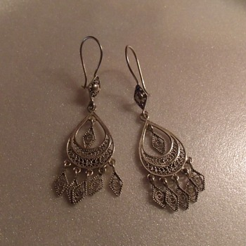 Serling Silver Earings  - Fine Jewelry