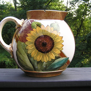 Victorian Sunflower Pitcher