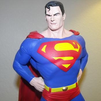 "14"" Superman Statue ended early by Ebay Warner Bros. complained - Toys"