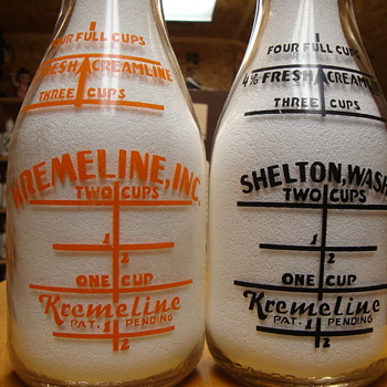 Kremeline style milk bottles.....