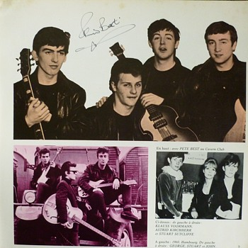 Beatle Pete Best autographs