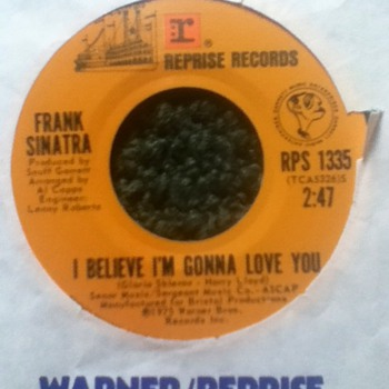 "Frank Sinatra - ""I Believe I'm Gonna Love You"" & ""The Only Couple on the Floor"" 45 Record"