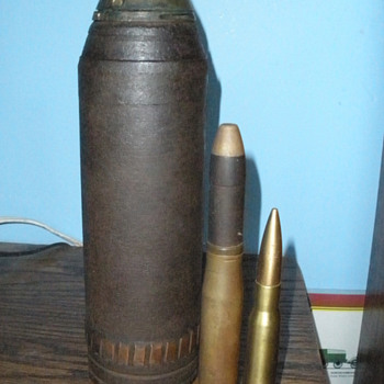 WWI era Skovill Model 1907 M Schrapnel Round. Fired!