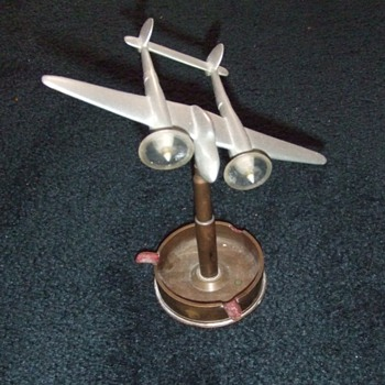 WW2 Trench Art aluminum P- 38 ash tray