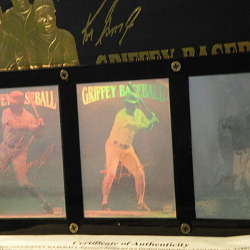 Griffey Baseball Card Memorabilia