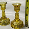 Vallerysthal &amp; Portieux Amber Candlesticks