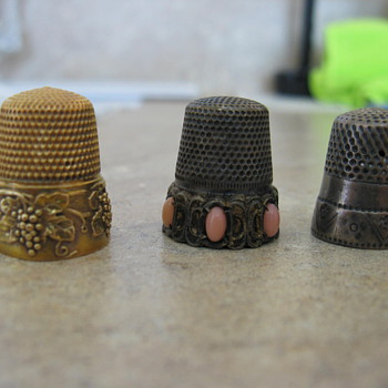 My trio of thimbles - Sewing