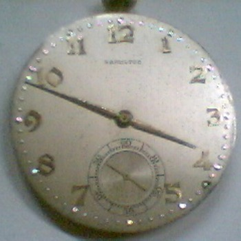 Vintage Hamilton pocket watch movement working w/ glass
