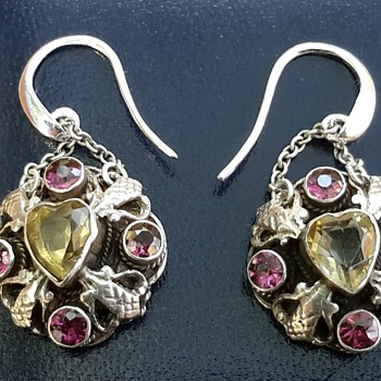 Silver Citrine and Tourmaline Earrings - Fine Jewelry
