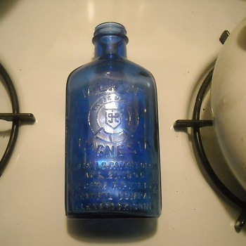 Antique Phillips Milk of Magnesia Embossed Bottle