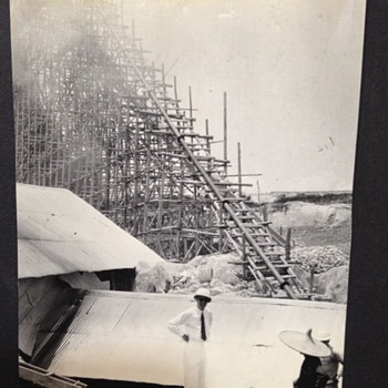 1930's Original Photographs In CHINA Appears to be some type of Engineering Project Going on