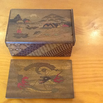 Japanese Puzzle Box - carried on HMS Amethyst during Yangtze Incident - Asian