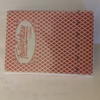 Fontainbleau casino playing card. Never used sealed